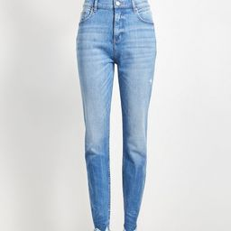 Curvy High Rise Skinny Jeans in Vintage Wash | LOFT