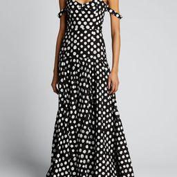 Studio 189 Polka Dot Off-the-Shoulder Cotton Gown   Bergdorf Goodman