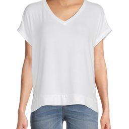 Time and Tru Women's Short Sleeve Textured Top | Walmart (US)