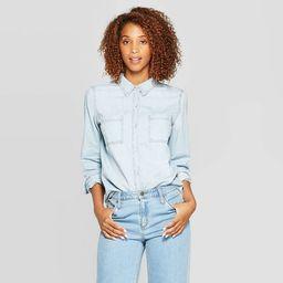 Women's Long Sleeve Labette Denim Woven Shirt - Universal Thread™ | Target