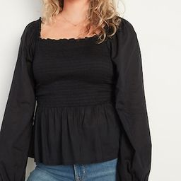 Ruffled Square-Neck Smocked Blouse for Women   Old Navy (US)
