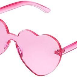 Maxdot Heart Shape Sunglasses Party Sunglasses | Amazon (US)
