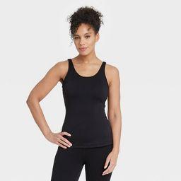Women's Scoop Back Tank Top with Shelf Bra - All in Motion™ | Target