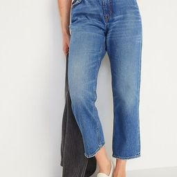 High-Waisted Slouchy Straight Cropped Jeans for Women   Old Navy (US)