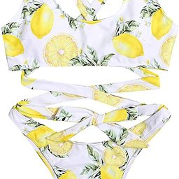 Mercyaron Womens Sexy One Piece Straps Swimsuit Bathing Suit Lemon Print Swimwear | Amazon (US)