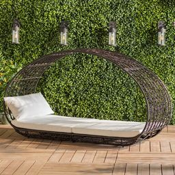 Lavina Outdoor Patio Daybed with Cushions   Wayfair North America