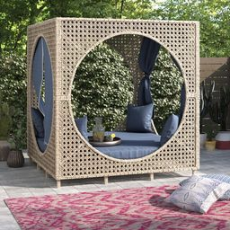 Amabel Cube Patio Daybed with Cushions   Wayfair North America