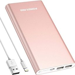 POWERADD Pilot 4GS 12000mAh 8-Pin Input Portable Charger External Battery Pack with 3A High-Speed...   Amazon (US)