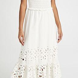Hazel Eyelet Smocked Ruffle Dress | Shopbop