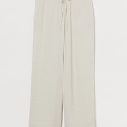Wide-leg Pull-on Pants | H&M (US)