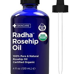 Radha Beauty USDA Certified Organic Rosehip Oil, 100% Pure Cold Pressed - Great Carrier Oil for M... | Amazon (US)