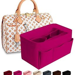Purse Organizer Insert Felt Bag Organizer Handbag Organizer Insert for Tote fits LV Speedy Neverf... | Amazon (US)