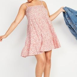 Printed Sleeveless Tiered Swing Dress for Women | Old Navy (US)