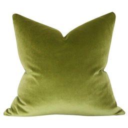 Bright Olive Green Velvet | Arianna Belle