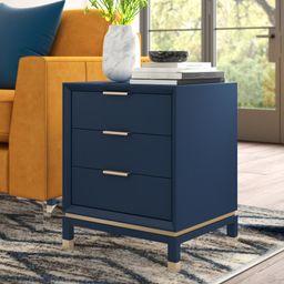 Updike Solid Wood 3 Drawer End Table   Wayfair North America