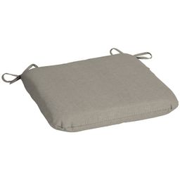 Mainstays Solid Tan 17 in. W x 15.5 in. L Outdoor Patio Seat Pad   Walmart (US)