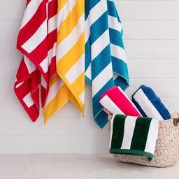 Porch & Den Rosina Oversized 2-Piece Cabana Beach Towel Set - Marigold   Overstock