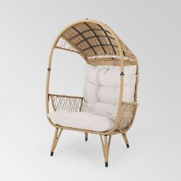 Malia Wicker Standing Basket Chair - Christopher Knight Home | Target
