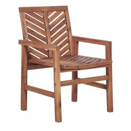 Brown Chevron Outdoor Wood Patio Chairs by Manor Park, Set of 2 | Walmart (US)