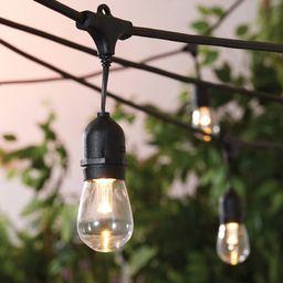 Better Homes & Gardens 22ft Outdoor LED Cafe String Lights in Black | Walmart (US)
