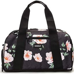 "Vooray Burner Gym Duffel, Small Gym Bag with Shoe Pocket, 16"" Compact Duffel Bag (Rose Black) | Amazon (US)"