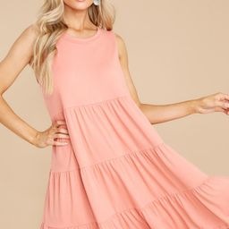Hit It Off Coral Dress   Red Dress