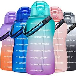 Fidus Large Half Gallon/64OZ Motivational Water Bottle with Paracord Handle & Removable Straw - B... | Amazon (US)