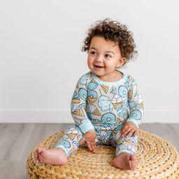 Gray Sweet Treats Two-Piece Bamboo Viscose Pajama Set | Little Sleepies