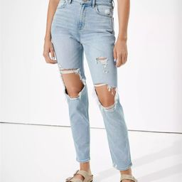 AE Stretch Ripped Mom Jean | American Eagle Outfitters (US & CA)