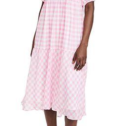 Gingham Print Midi Dress   Shopbop