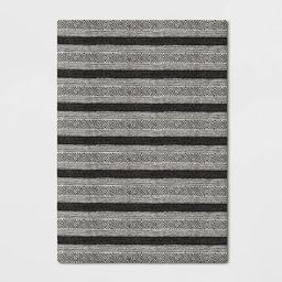 Ravinia Stripe Hand Tufted Rug Black/White - Threshold™   Target
