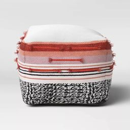 Outdoor Pouf Red/Black/White - Opalhouse™ | Target