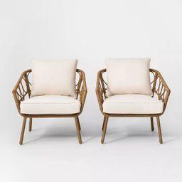 Britanna 2pk Patio Club Chair Natural - Opalhouse™ | Target