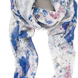 Scarf for Women Lightweight Floral Flower Scarves for Spring Fall Shawl Wrap | Amazon (US)