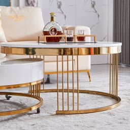 Shahan Frame 2 Piece Nesting Tables with Storage | Wayfair Professional