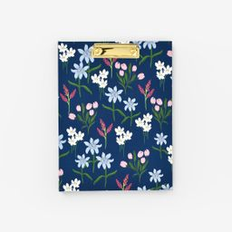 Navy Wildflowers Clipfolio | Emily Ley Paper, Inc.