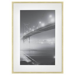 """15"""""""" x 21"""""""" Matted to 11"""""""" x 17"""""""" Thin Metal Gallery Frame Brass - Project 62 