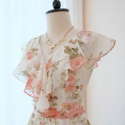 floral dress, Graduation dress, Bridesmaid Dresses, wedding Guest dresses, Spring Dress             | Etsy (US)