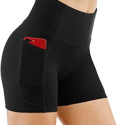 THE GYM PEOPLE High Waist Yoga Shorts for WomenTummy Control Fitness Athletic Workout Running S... | Amazon (US)
