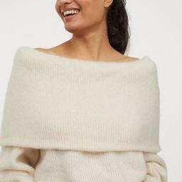 Off-the-shoulder Sweater   H&M (US)