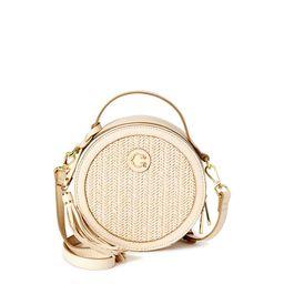 C. Wonder Julia Round Faux Straw Crossbody Bag with Texture   Walmart (US)