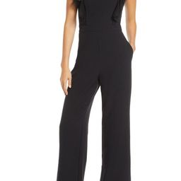 Tulle Ruffle Stretch Crepe Jumpsuit | Nordstrom