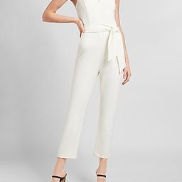 Belted Ruffle Strap Sweetheart Jumpsuit | Express
