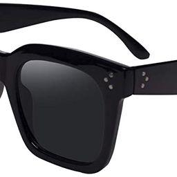 TAOTAOQI Vintage Women Oversized Sunglasses Designer Luxury Square Sun Glasses UV400 Protection F... | Amazon (US)