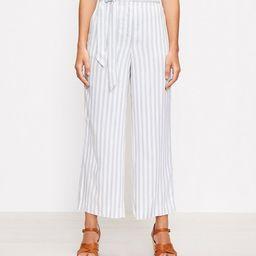 The Tie Waist Pull On Wide Leg Pant in Stripe   LOFT