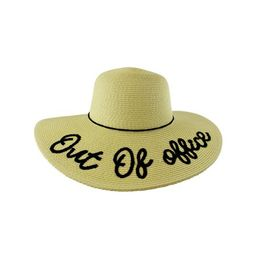 Out Of Office Embroidered Beach Floppy Sun Hat   Walmart (US)