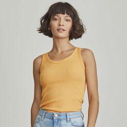 Women's Elizabeth and James Ribbed Tank Top, Size: XL, Med Orange   Kohl's