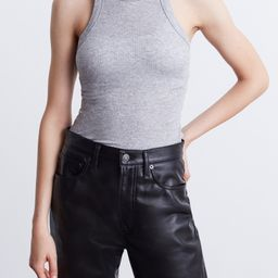 Wsly The Rivington Ribbed Tank Top in Grey Heather Bandier   Bandier
