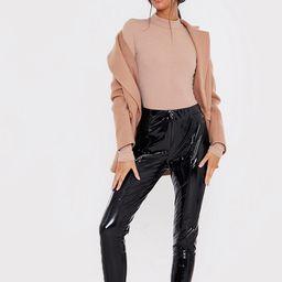 In The Style x Lorna Luxe vinyl legging in black   ASOS (Global)