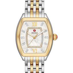 Michele | Women's Releve Diamond Two-Tone Bracelet Watch, 31mm x 40mm - 0.19 ctw | Nordstrom Rack | Nordstrom Rack